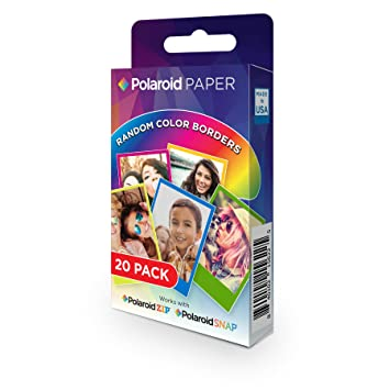 Amazoncom Polaroid 2x3 Inch Rainbow Border Premium Zink Photo