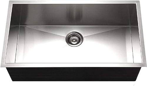 Houzer CTG-3200 Contempo Gourmet Undermount Large Single Bowl Kitchen Sink