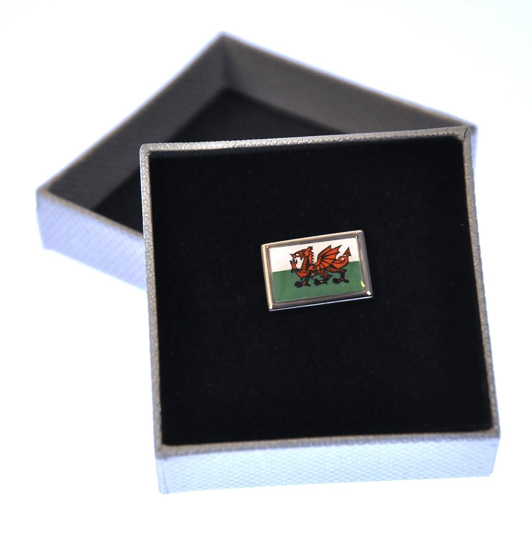 Welsh Dragon Flag Enamel Lapel Pin