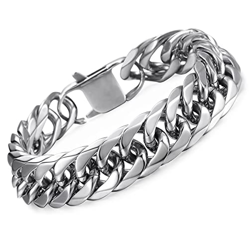 mens solid silver bangles gear bracelet sterling bangle real brief cuff design thick item band