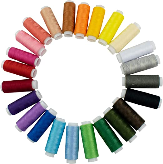 20 Different Colours Good Quality 20-100/% PURE COTTON ALL PURPOSE THREAD