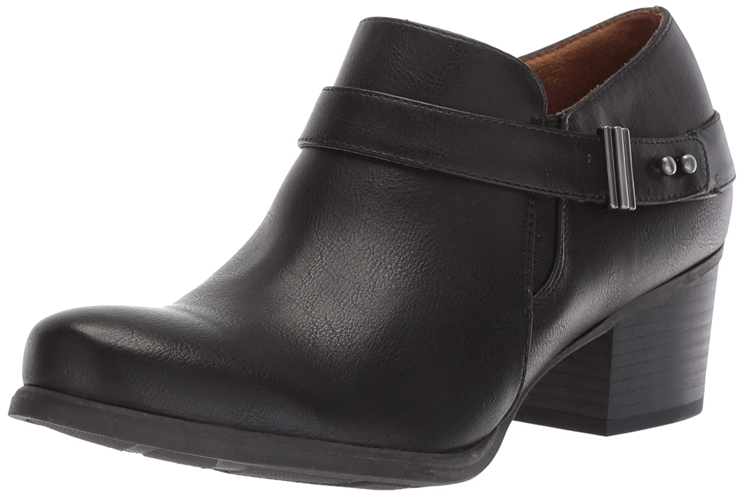 - SOUL Naturalizer Women's CHAYLEE Ankle Boot Black 7.5 W US