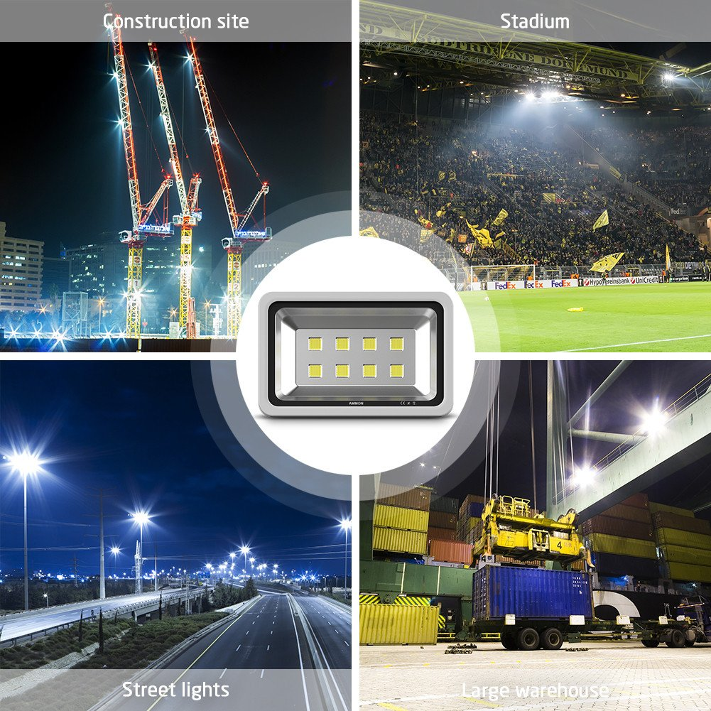 Ammon led flood light 400w high power spotlight cool white ammon led flood light 400w high power spotlight cool white waterproof ip65 outdoor security lighting wall garden projector billboard lamp ac85 265v 400watt arubaitofo Choice Image