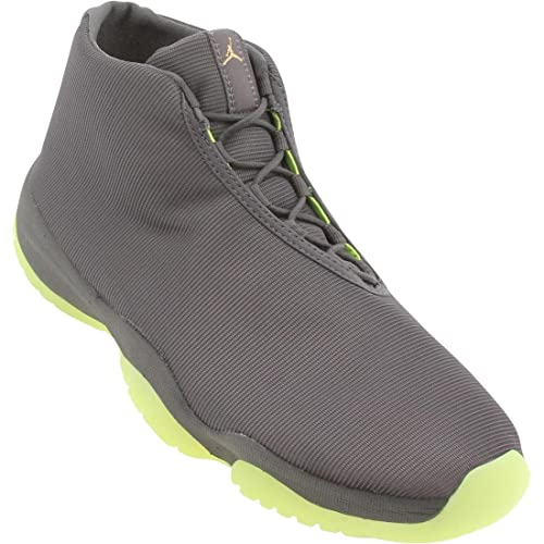 purchase cheap ccc90 2a04d NIKE Mens Air Jordan Future Dark Grey/Volt Sneakers - 12: Buy Online at Low  Prices in India - Amazon.in