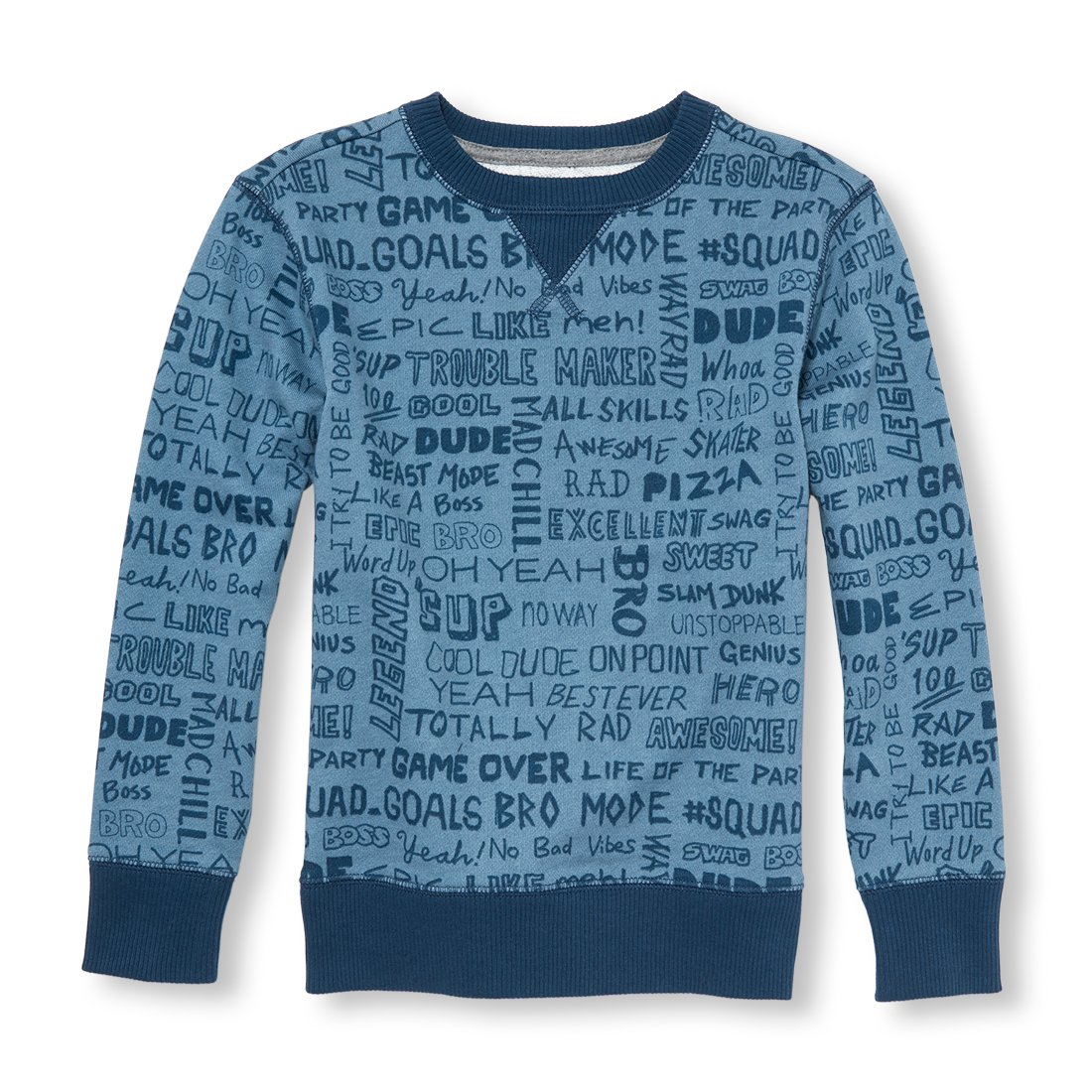 The Childrens Place Big Boys Crewneck Fleece Sweatshirt