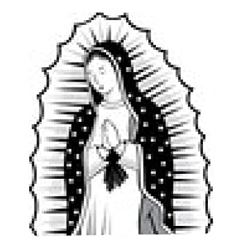 Mousepad Virgin Of Guadalupe Black And White Amazonde Elektronik