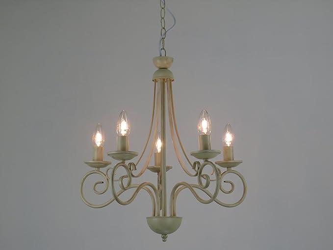 Lampadario Stile Rustico : Diana l lampadario fiammingo classico rustico country avorio
