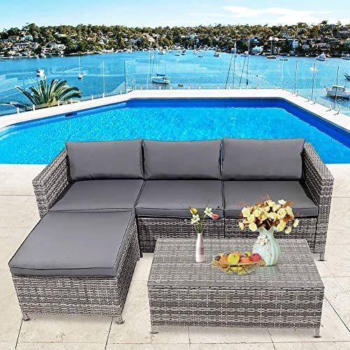 HCWORLD 5 Pieces Patio Furniture Set