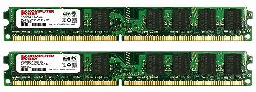 1050 opinioni per Komputerbay 4GB (2X 2GB) DDR2 800MHz PC2-6300 PC2-6400 (240 PIN) DIMM Memoria