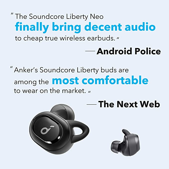 140edb0473a Wireless Earbuds, Anker Soundcore Liberty Neo, Premium Sound with Pumping  Bass, Secure Fit, Bluetooth 5.0 Headphones, Stereo Calls, Noise-Canceling,  ...