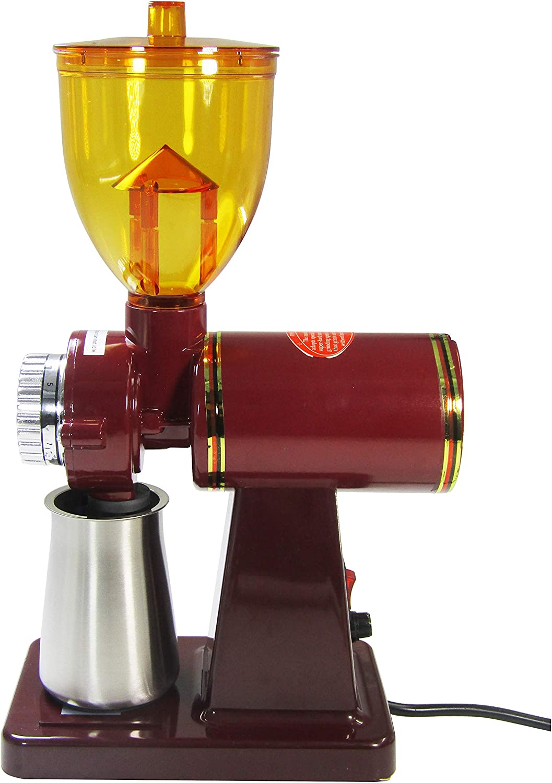 JIAWANSHUN 250g Automatic Coffee Burr Grinder Coffee Burr Mill Coffee Bean Grinder 110V, Red