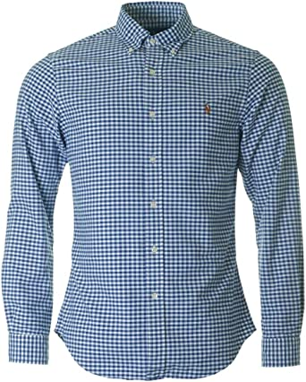 Polo Ralph Lauren Slim FT BD PPC, Camisa Casual para Hombre, (Blue ...