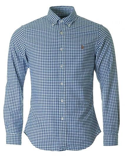Polo Ralph Lauren Slim Ft BD Ppc Blue/White Gin Camisa Casual para ...