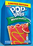 Kellogg's, Pop-Tarts, Limited Edition, Frosted Watermelon Toaster Pastries, 8 Count, 14.1oz Box (Pack of 3)
