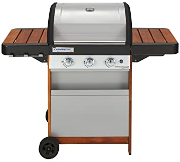 Campingaz Parrilla de Gas 3 Series Woody LX, BBQ Barbacoa ...