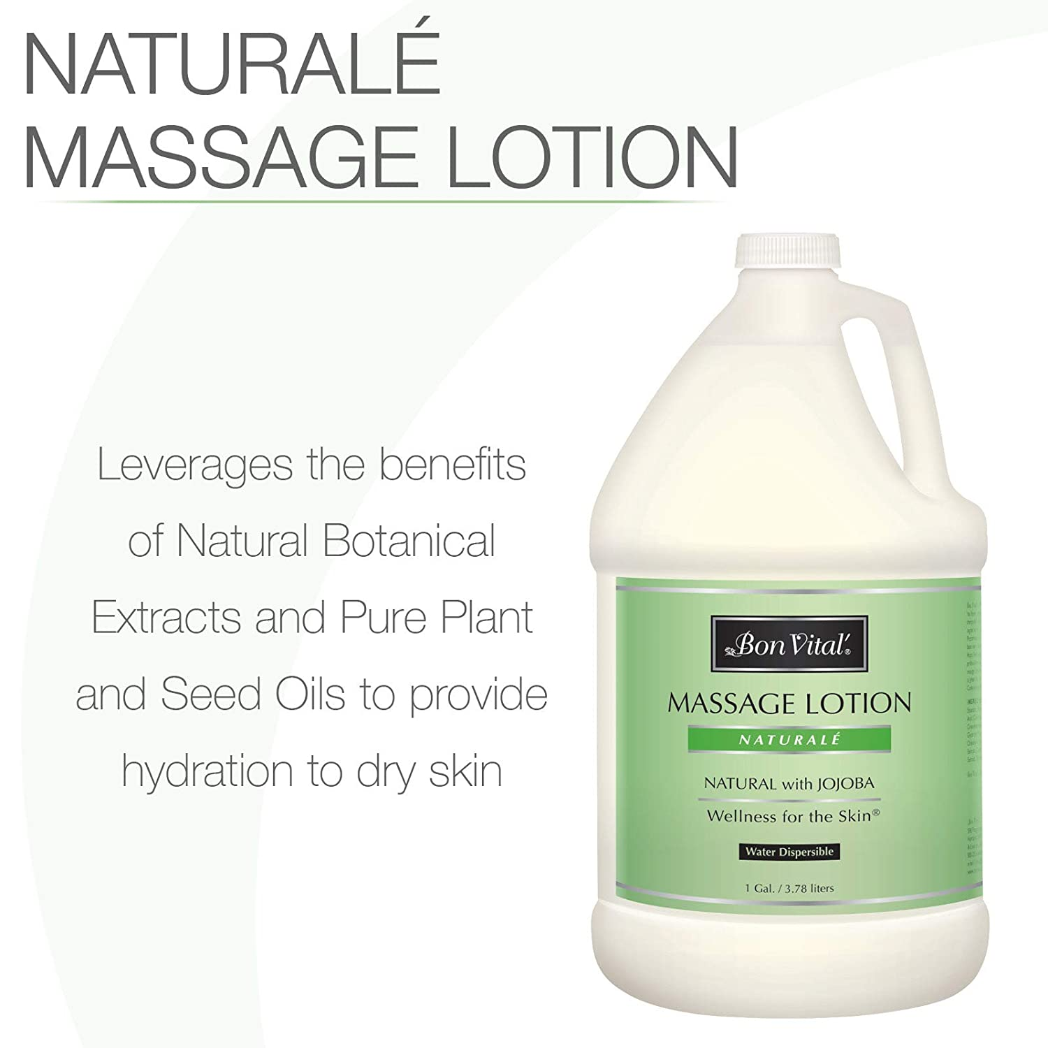 Bon Vital' Naturale Massage Lotion Made with Natural Ingredients for an Earth-Friendly & Relaxing Massage, All Natural Moisturizer, Relieves Muscle Soreness and Increases Circulation, 1 Gallon Bottle: Industrial & Scientific