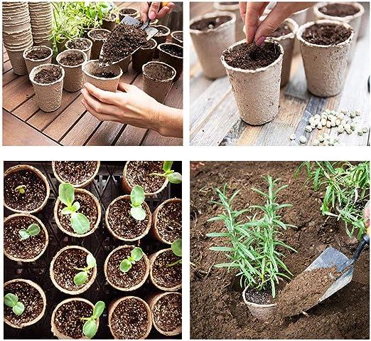 Macetas de peltre 48 unidades para arrancar semillas, 7, 62 cm ...