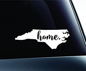 #3 Home North Carolina State Raleigh Symbol Sticker Decal Car Truck Window Computer Laptop (White)