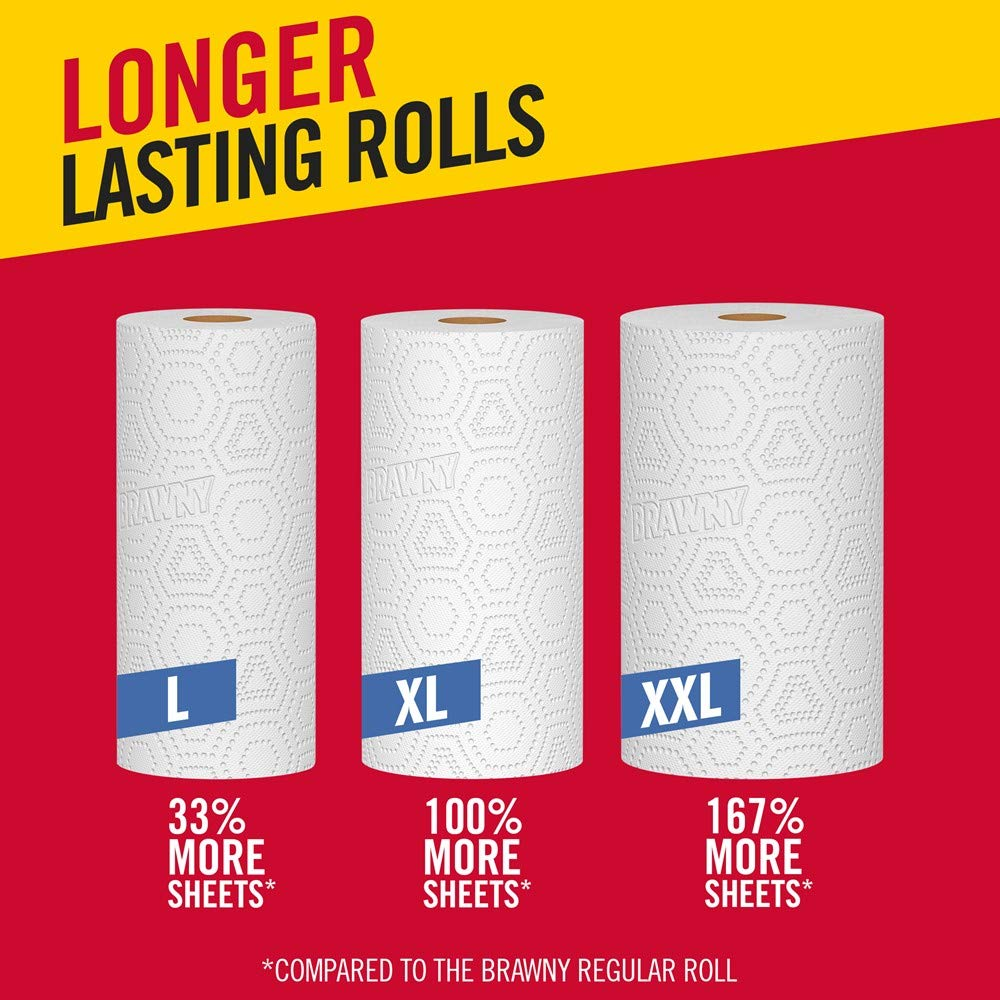 Brawny Paper Towels, 16 XL Rolls, Pick-A-Size, White, 16 = 32 Regular Rolls by Brawny (Image #11)