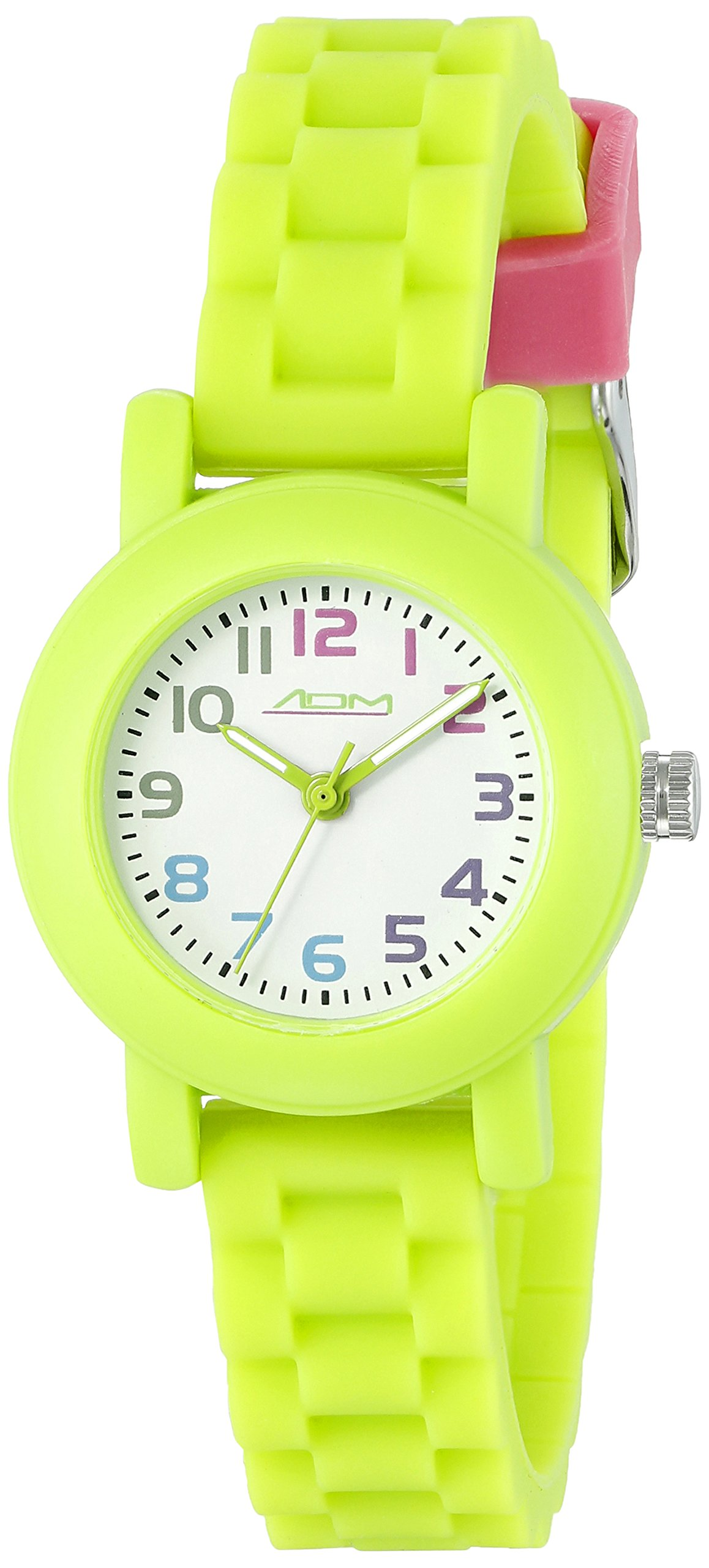 American Design Machine Jr. Kids' ADSG 5004 GRN Selma Analog Display Japanese Quartz Green Watch