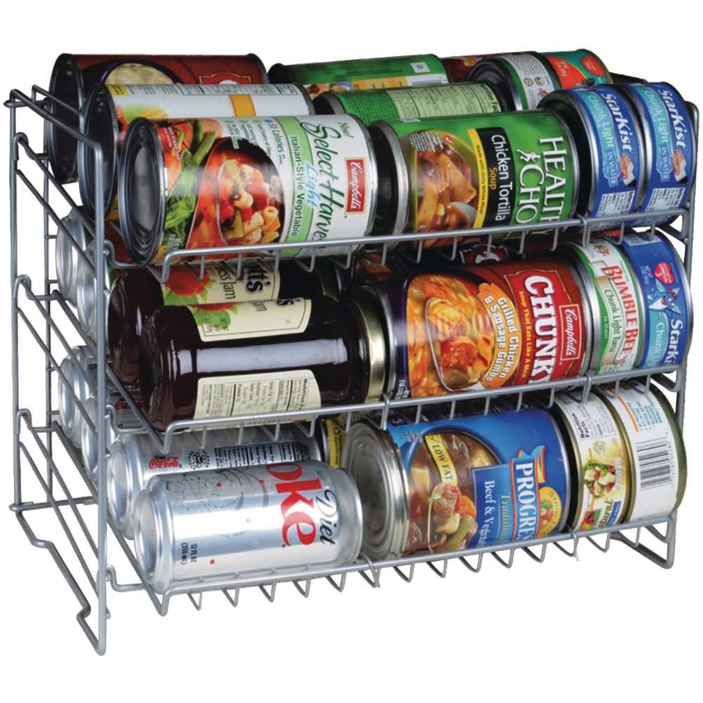 Amazon.com: Atlantic Double Canrack   Can Food Kitchen Organizer   Silver:  Home U0026 Kitchen