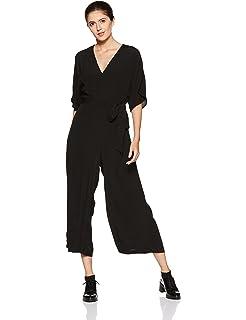 3c6c872d1c0 GAP Women s Sleeveless Wrap Jumpsuit in Modal  Amazon.in  Clothing ...