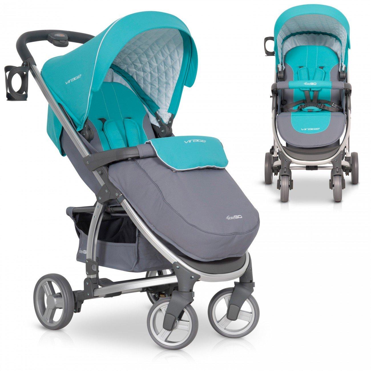 Silla de paseo VIRAGE Carrito con Capazo de alta calidad, color Malachite product image
