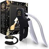 Wine Ziz Rabbit Wine Bottle Opener, Corkscrew Wine Opener Set with Foil Cutter, Heavy-Duty Metal Screw-pull Lever (Vertical R