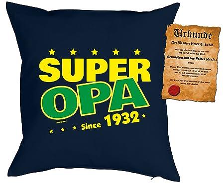 Grandpa 85th Birthday Quotes Cushion Cover 85 Years Super Grandpa