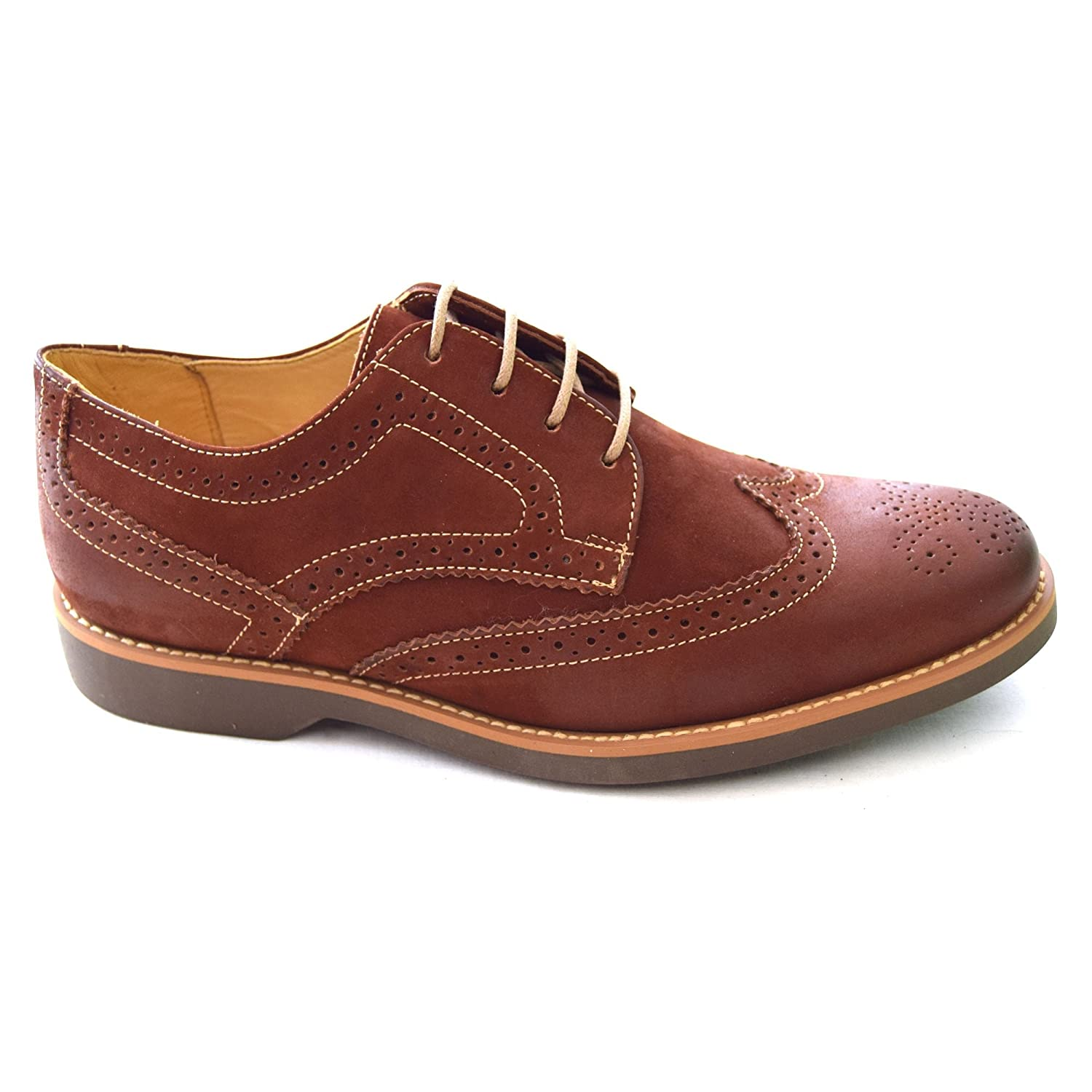Anatomic & Co Tucano Black Leather Brogues Rust