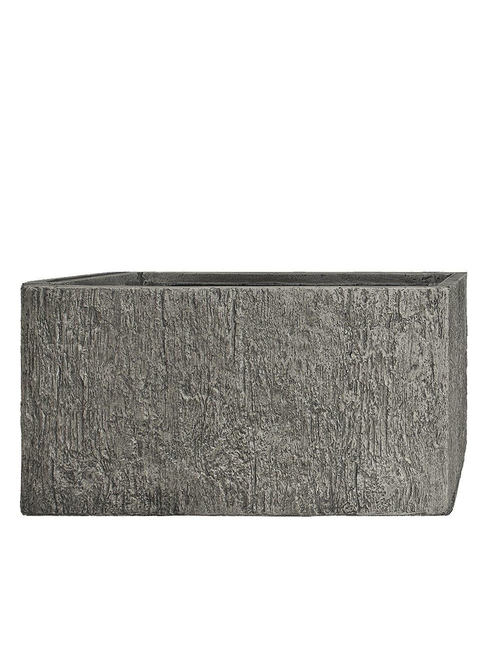 PFLANZWERK® Pflanzkübel TUB Wood Grau 45x100x45cm *Frostbeständig* *UV-Schutz* *Qualitätsware*