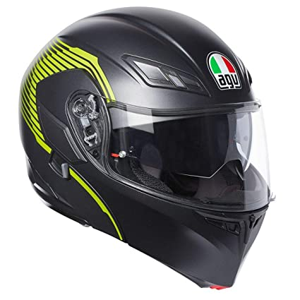 AGV Numo EVO ST Vermont Modular Helmet Matte Black/Yellow XS