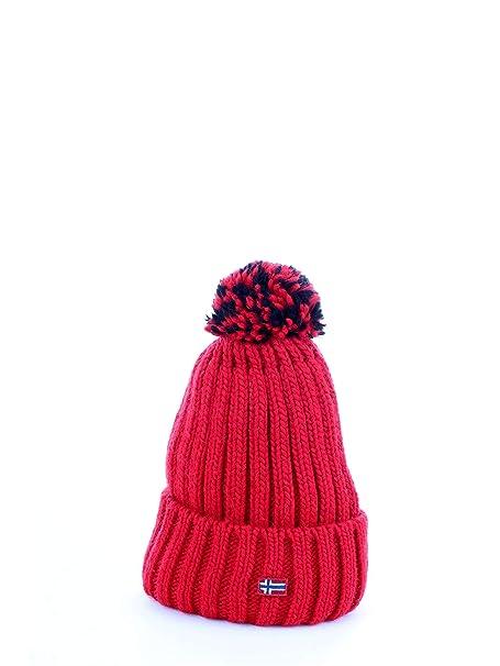 Napapijri - Gorro - para Mujer Rojo Rojo Talla única  Amazon.es  Ropa y  accesorios 83b218edece