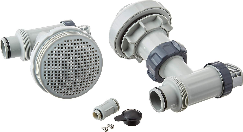 Intex - Juego de conectores para piscina (38 mm de diámetro), color gris