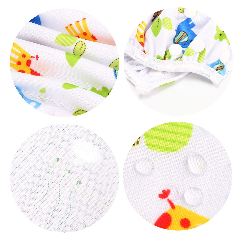 Phogary Schwimmwindeln Gewicht 3 bis 15 kg perfekt f/ür Duschen ZOO-Thema + Schmetterling 2er-Pack Strand- und Schwimmstunden wiederverwendbare Baby-Schwimmwindel f/ür Babys von 0 bis 3 Jahren