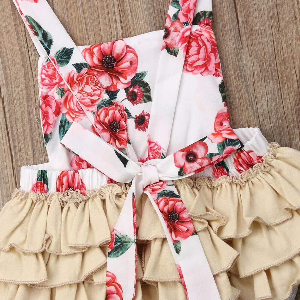 Bone Cute Cotton Baby Girl Floral Print Newborn Infant Off Shoulder Romper Jumpsuit Outfit Playsuit Girls Clothing B