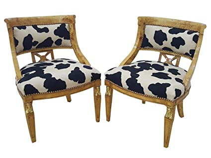 Prime Amazon Com Directoire Pair Of Armchairs With Gilded Sides Pabps2019 Chair Design Images Pabps2019Com