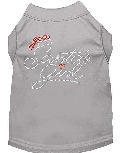Amazon Santas Girl Rhinestone Dog Shirt Grey Xxl 18 Arts