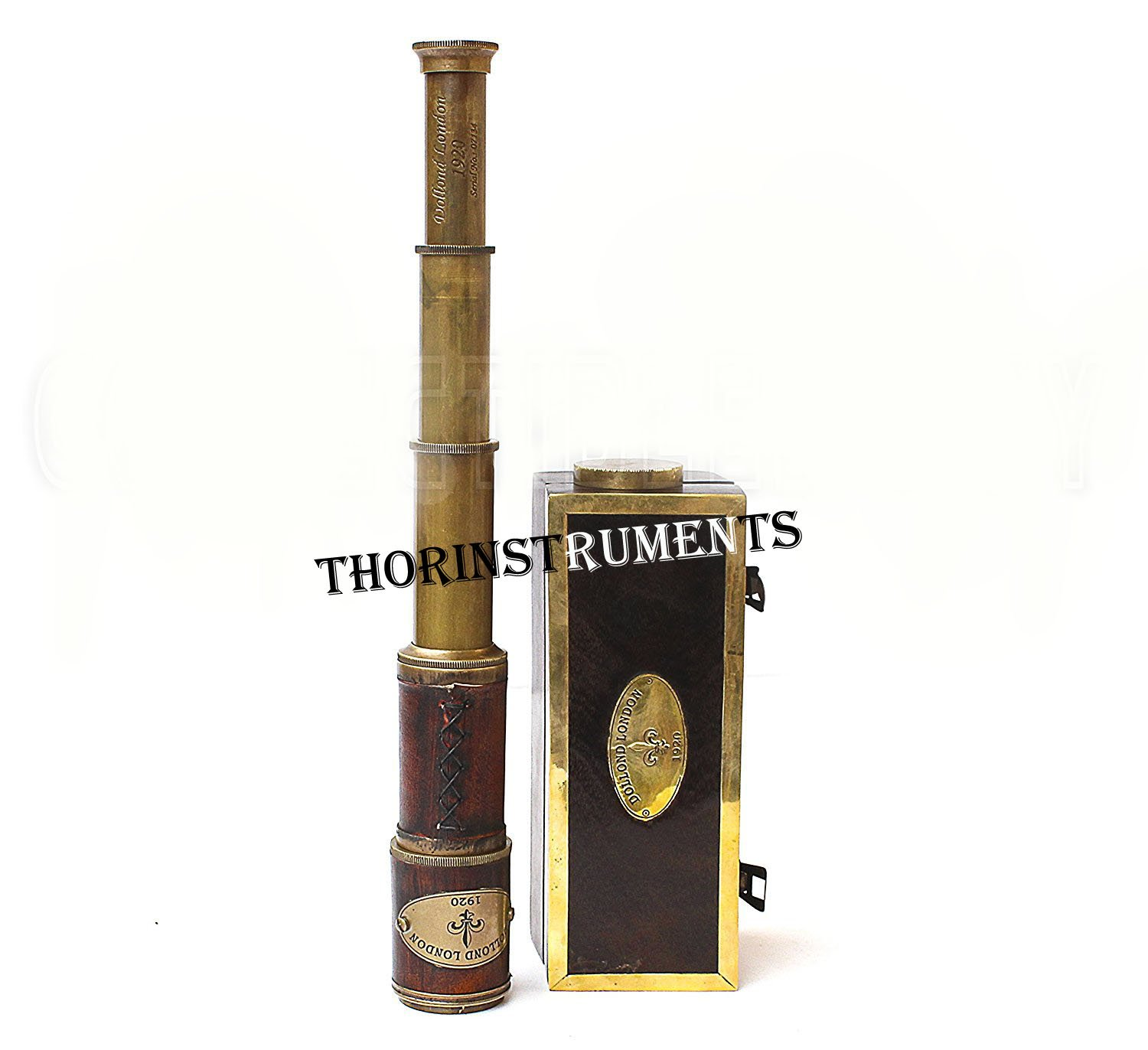 Brass & Leather Sailor Look Brass Antique Sea Marine Telscope by THORINSTRUMENTS (with device) (Image #3)