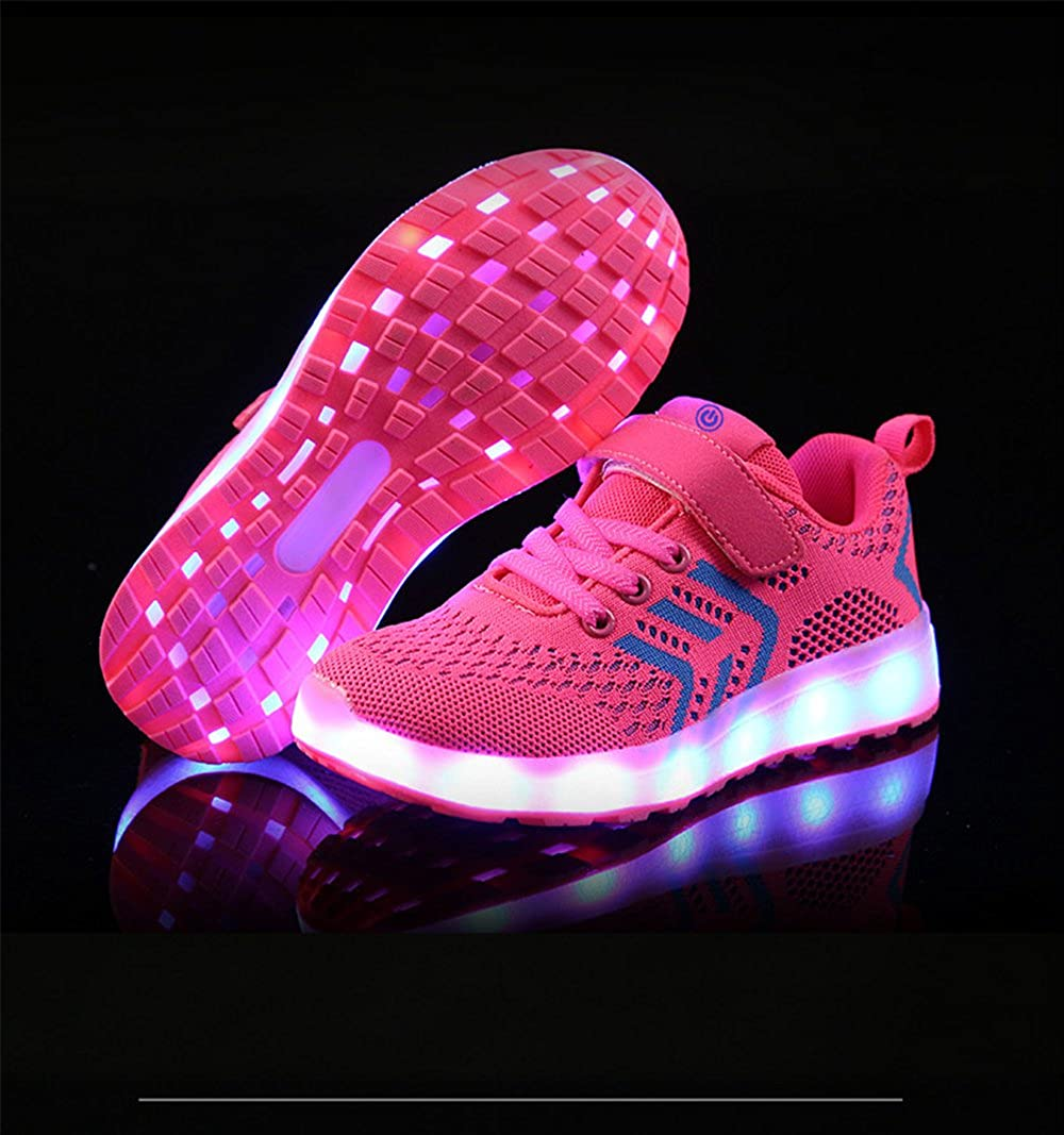 Chic Boys /& Girls Toddler//Little Kid//Big Kid LED Light up Breathable Flashing Sneakers