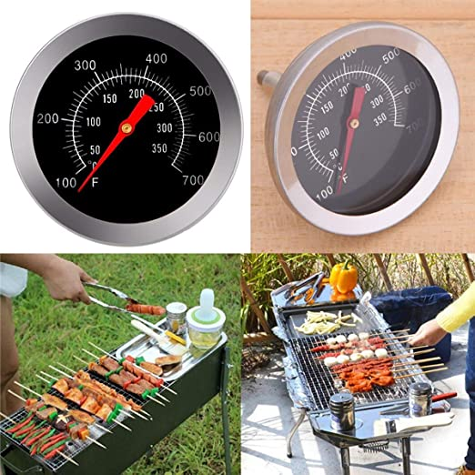 Jinxuny Medidor de Temperatura Termómetro bimetálico de Acero ...