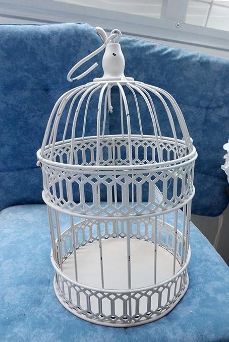 Pájaro jaula (Color Crema o gris envejecido Colores a Elegir) 37 x ...