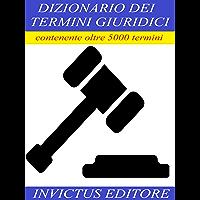 Dizionario dei termini giuridici (Italian Edition) book cover