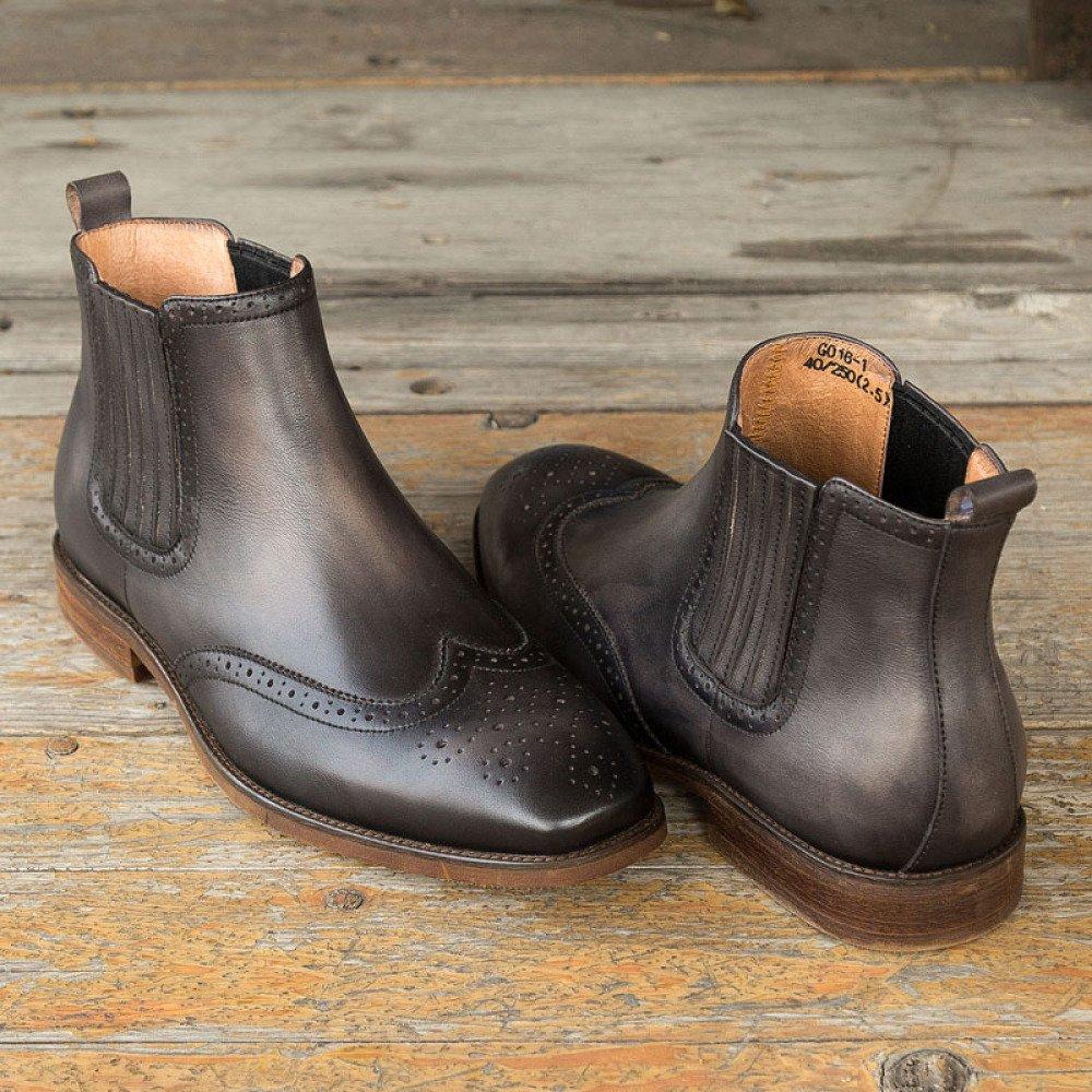 GTYMFH Herbst Herrenschuhe Leder Chelsea-Stiefel Vintage Vintage Vintage Atmungsaktive Lederstiefel d00f23