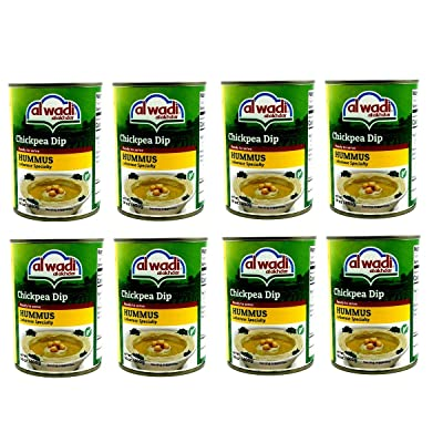 Al Wadi Al Akhdar Lebanese Hummus Chickpeas Dip 8 Cans 14oz. 400g each. حمص الوادي الأخضر اللبناني بالطحينة: Grocery & Gourmet Food