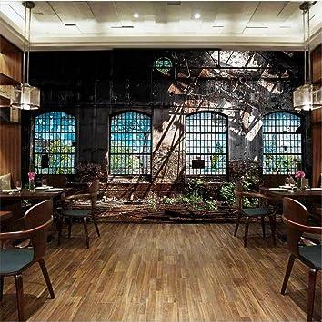 Fond Decran Retro Nostalgie Style Industriel 3D Murales Personnalisables Decoration Cafe Salle A
