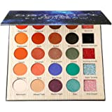DE'LANCI Nocturne Eyeshadows Palette with Mirror Applicator - Matte + Shimmer +Glitter - Highly Pigmented and Long-Lasting Eye Shadows Powder Makeup Set, 25 Color ,1.31oz.
