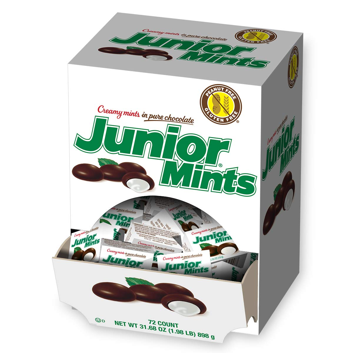 Junior Mints, Creamy Mints in Pure Chocolate, Mini-Boxes, 72-Count by Tootsie Roll