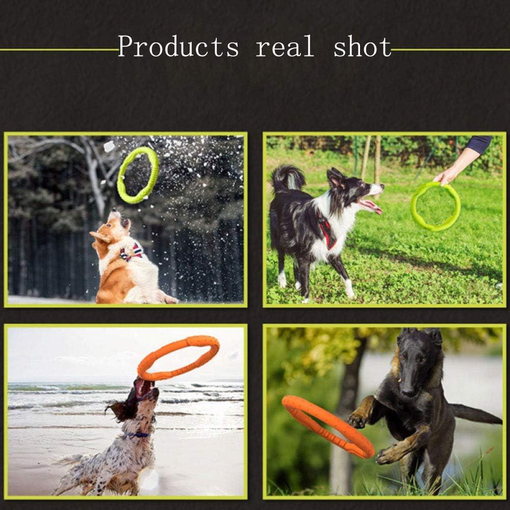 WENFF Juguete para Perros Mediano Y Grande Entrenamiento para Mordeduras De Perros Anillo De Tracci/ón Juguete Interactivo para Molar para Mascotas,Orange