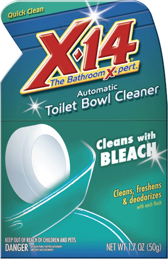 X-14 Anti-Bacterial Toilet Bowl Cleaner, Chlorine Clear 1.7 oz (50 g) WD-40 Company 269018